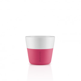 Lungo beker, 2 stuks berry red/230 ml