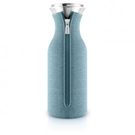 Fridge karaf 1,0 l. met hoes woven artic blue