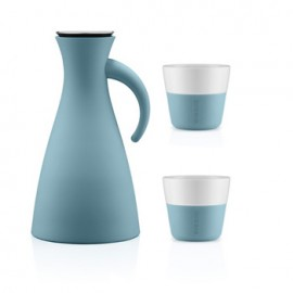 Set Thermoskan 1,0 L en 2 Lungo bekers 230 ml artic blue
