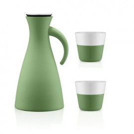 Set Thermoskan 1,0 L en 2 Lungo bekers 230 ml botanic green