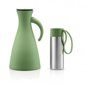 Set Thermoskan 1,0 L en To Go Cup 0,35 L botanic green