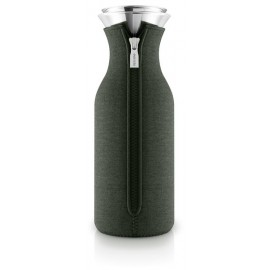 Fridge karaf 1,0 l. met hoes woven Forrest Green