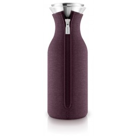 Fridge karaf 1,0 l. met hoes woven Dark Burgundy